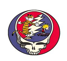 Grateful Dead Steal Your Face Calvin and Hobbes by thehungrywalrus