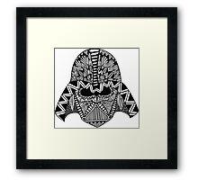 Darth Vader Zentangle Framed Print