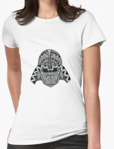 Darth Vader Zentangle Womens Fitted T-Shirt