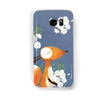 Fox and White Rose Samsung Galaxy Case/Skin
