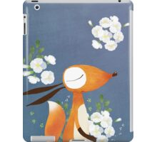 Fox and White Rose iPad Case/Skin
