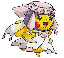Mega Diancie Pikachu Poncho  by Eat Sleep Poke Repeat