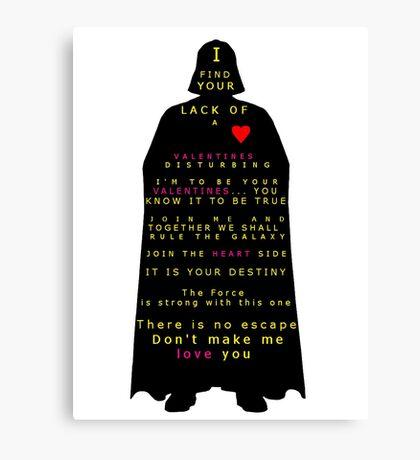 Star Wars Darth Vader: Valentines Canvas Print