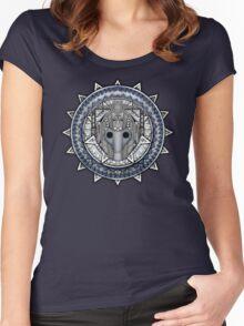 Aztec Future Robot Pencils sketch Art Women's Fitted Scoop T-Shirt