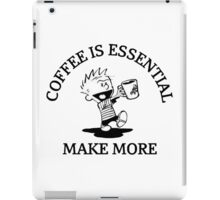 calvin and hobbes coffee iPad Case/Skin