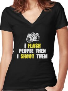 Hilarious Photographer Tee Women's Fitted V-Neck T-Shirt