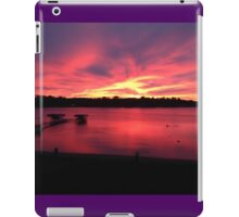 Pleasant Lake Sunset iPad Case/Skin