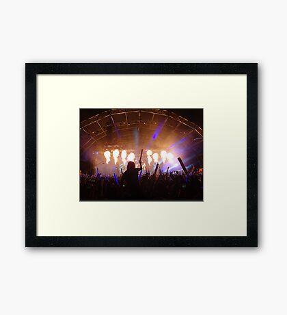 flame on concert  Framed Print