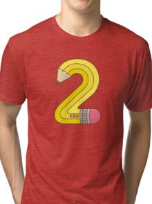 #2 Pencil Tri-blend T-Shirt
