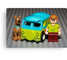 Scooby, Shaggy and the Machine Canvas Print