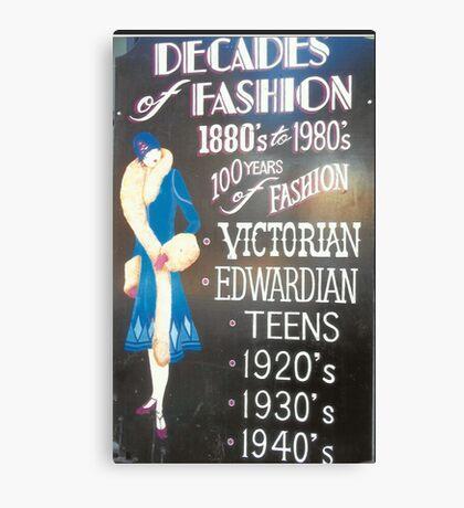Retro Fashions In Haight-Ashbury Canvas Print
