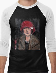 The Red Hat 1920's #1 in a Series Men's Baseball ¾ T-Shirt