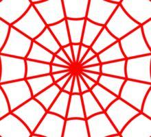 Spider Web - Red Sticker