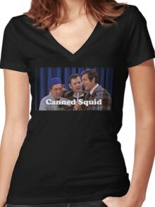 Odd Couple - Canned Squid Women's Fitted V-Neck T-Shirt