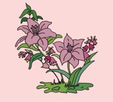 Pink Lily One Piece - Short Sleeve