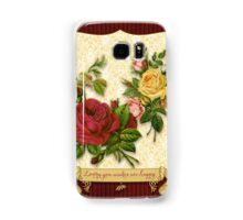 Loving You Makes Me Happy Elegant Roses Damask Samsung Galaxy Case/Skin