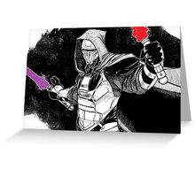Darth Revan Bordered Greeting Card