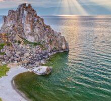 Shaman Rock, Lake Baikal in Siberia, Russia Sticker