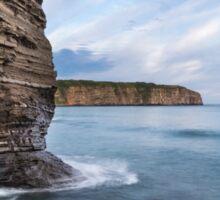 Lone Rock on Russkiy island, Vladivostok, Russia Sticker