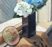 Still Life with Hydrangeas by Roz McQuillan
