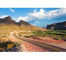 Sunset in Big Bend National Park, Texas, USA Photographic Print