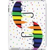 Rainbow umbrellas iPad Case/Skin