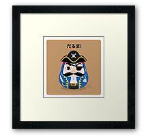 Pirates Daruma Framed Print