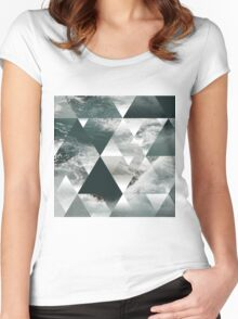 Waves polygon Women's Fitted Scoop T-Shirt