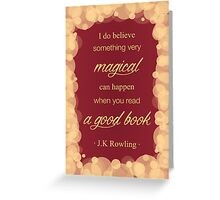 JK Rowling Quote 2 - Gryffindor Color Greeting Card