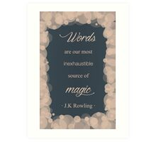 JK Rowling Quote - Ravenclaw Color Art Print