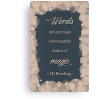 JK Rowling Quote - Ravenclaw Color Canvas Print