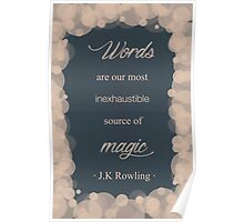 JK Rowling Quote - Ravenclaw Color Poster