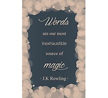 JK Rowling Quote - Ravenclaw Color Photographic Print