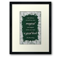 JK Rowling Quote 2 - Slytherin Color Framed Print