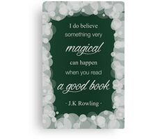 JK Rowling Quote 2 - Slytherin Color Canvas Print