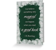 JK Rowling Quote 2 - Slytherin Color Greeting Card