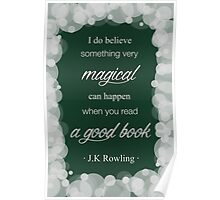 JK Rowling Quote 2 - Slytherin Color Poster