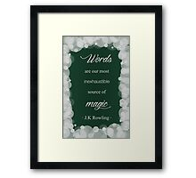 JK Rowling Quote - Slytherin Color Framed Print