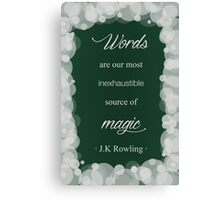 JK Rowling Quote - Slytherin Color Canvas Print