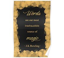 JK Rowling Quote - Hufflepuff Color Poster
