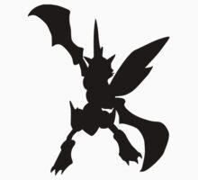 Scyther silhouette Kids Tee