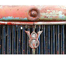 Distressed V8 Photographic Print