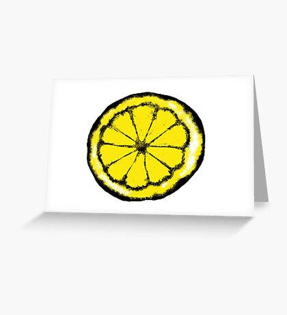 Lemon in the style of stone roses Greeting Card