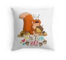 I'm Nuts for You Throw Pillow