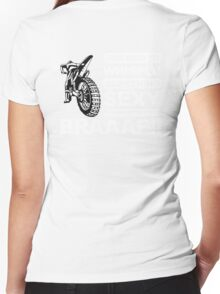 Cool Dirt Bike, Braaap!!! Women's Fitted V-Neck T-Shirt