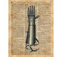 Robo Hand,Artifical Arm Dictionary Art Photographic Print
