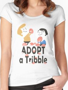 Adopt a Tribble Women's Fitted Scoop T-Shirt