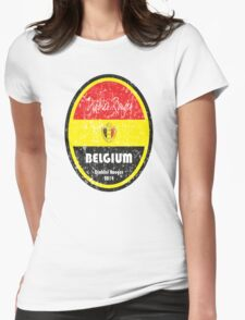 World Cup Football - Belgium Womens Fitted T-Shirt