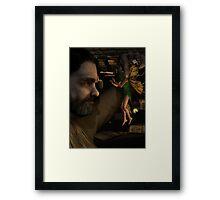 Firefly Fairy Framed Print