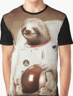 Sloth Astronaut Graphic T-Shirt